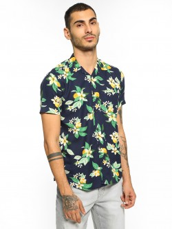 AMON Floral Fruit Print Cuban Shirt