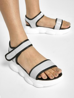 My Foot Couture Broad Strap Chunky Sole Sandals