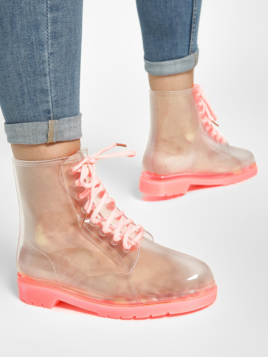 Sole Story Pink Ombre Rain Boots 1