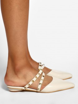Sole Story Studded Strap Heeled Mules