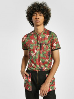 Shivan & Narresh X KOOVS Vineyard Print Henley T-Shirt