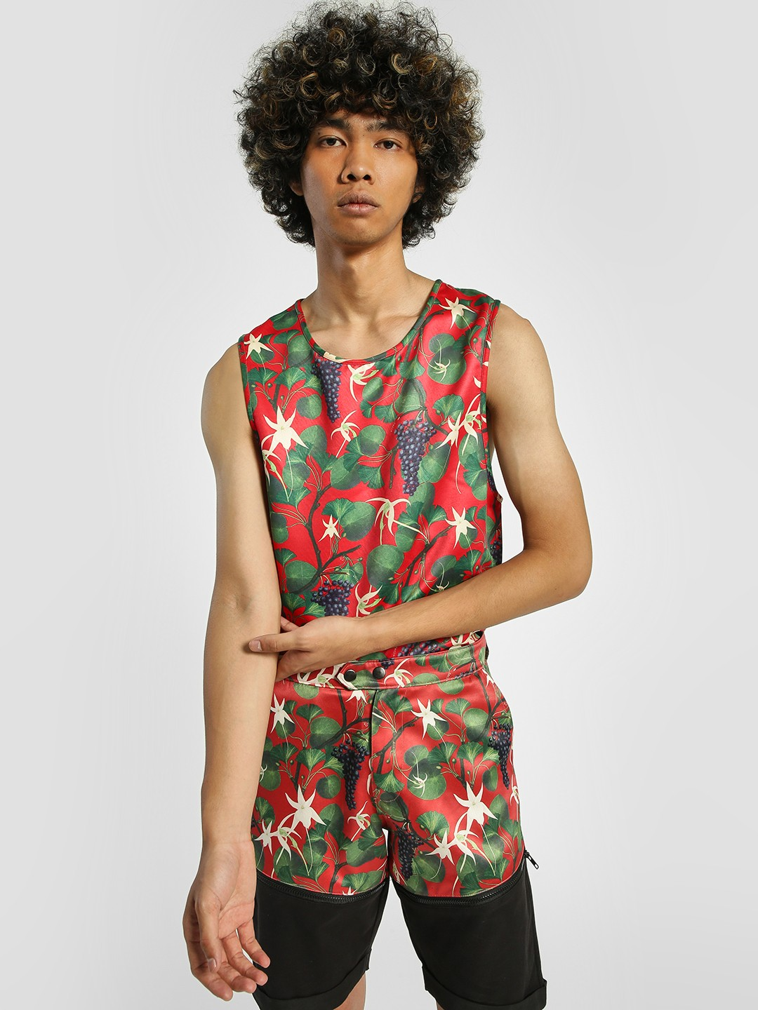Shivan & Narresh X KOOVS Multi Vineyard Print Longline Vest 1
