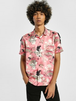 Shivan & Narresh X KOOVS Magnolia Flower Print Cuban Collar Shirt