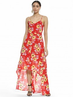 Ri-Dress Floral Print Cross-Back Maxi Dress