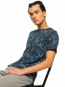 Rigo Floral Print Cut And Sew T-Shirt