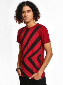 Rigo Chevron Stripe Print T-Shirt