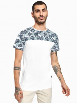 Rigo Tropical Print Cut & Sew Panel T-Shirt