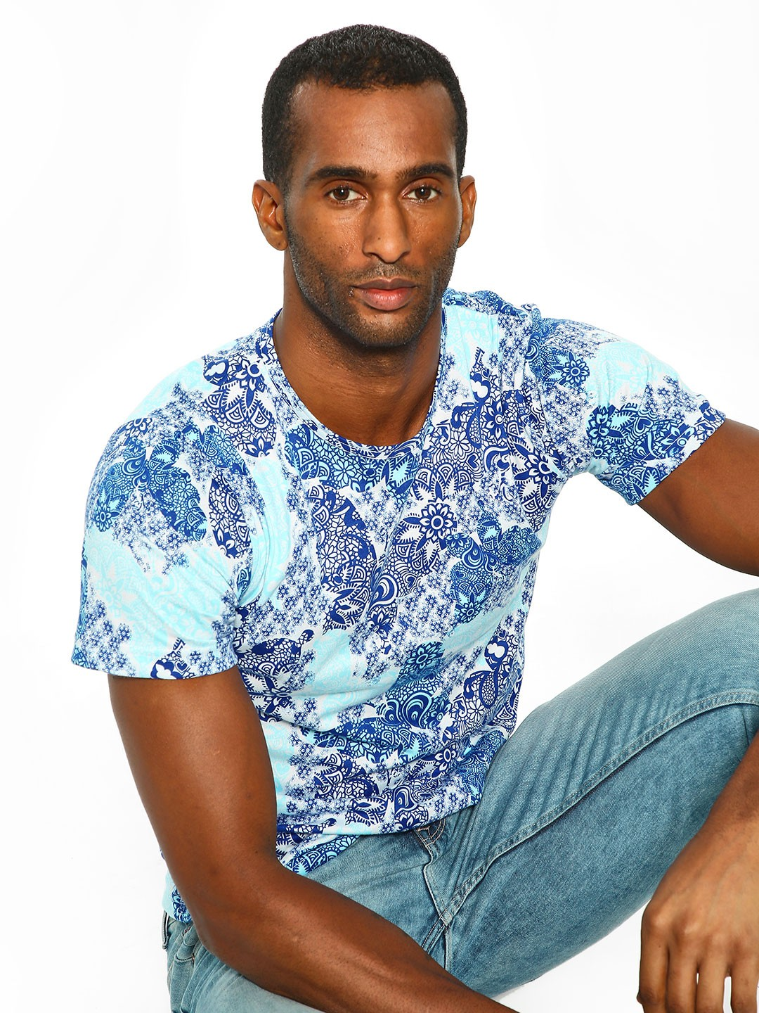 Rigo Blue All Over Printed T-Shirt 1