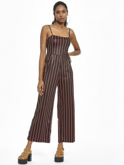 KOOVS Contrast Vertical Striped Jumpsuit