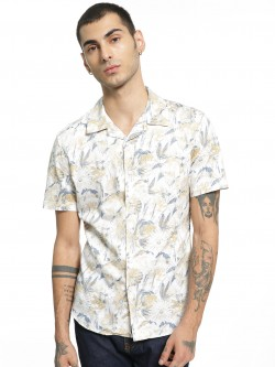 Spring Break Tropical Floral Print Cuban Shirt