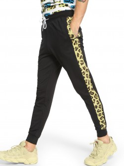 Fighting Fame Leopard Print Side Panel Joggers