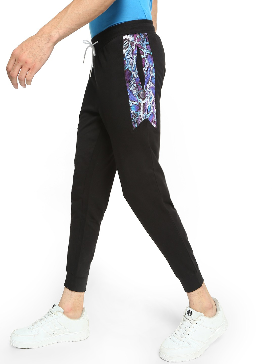 Fighting Fame Black Snakeskin Cut And Sew Joggers 1