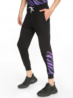 Fighting Fame Zebra Print Panelled Joggers