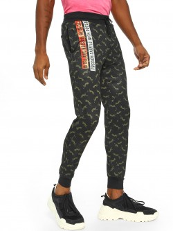 Fighting Fame Crafted With Passion Leopard Print Joggers
