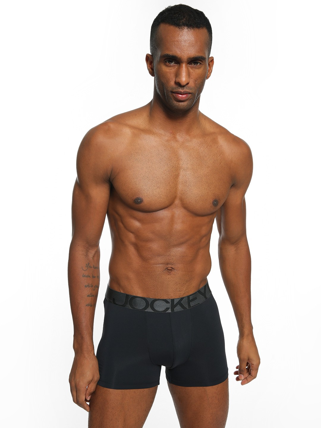 Jockey Black Logo Waistband Trunks 1