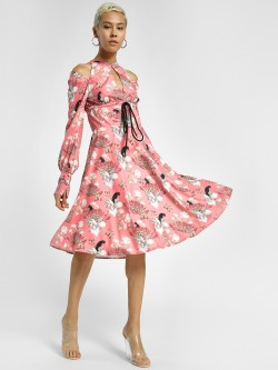 Shivan & Narresh X KOOVS Magnolia Flower Print Skater Dress