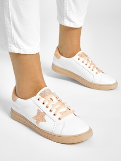 My Foot Couture Glitter Star Detail Sneakers