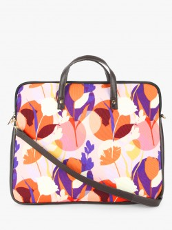 Gusto Sunset Floral Print Laptop Bag