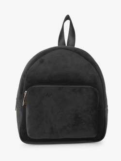 Gusto Basic Velvet Backpack