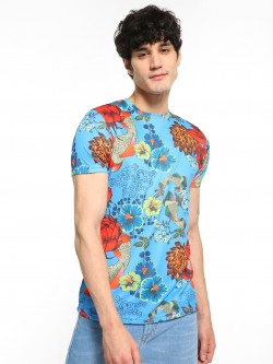 Brave Soul Underwater Tropical Print T-Shirt