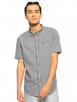 Brave Soul Gingham Check Short Sleeve Shirt