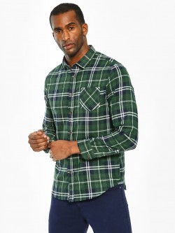Brave Soul Multi-Check Long Sleeve Shirt