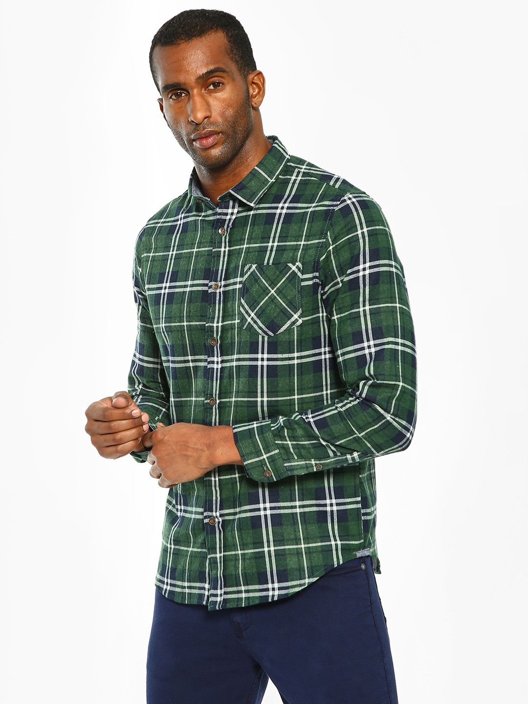 Brave Soul Multi Multi-Check Long Sleeve Shirt 1