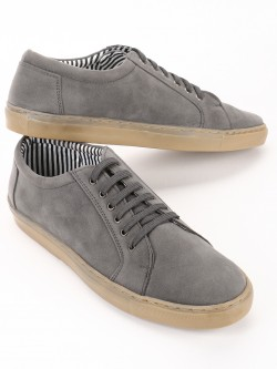 Bolt Of The Good Stuff Suede Lace Up Sneakers