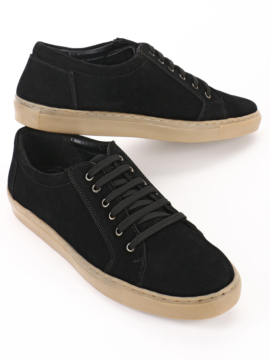 Bolt Of The Good Stuff Black Suede Lace Up Sneakers 1