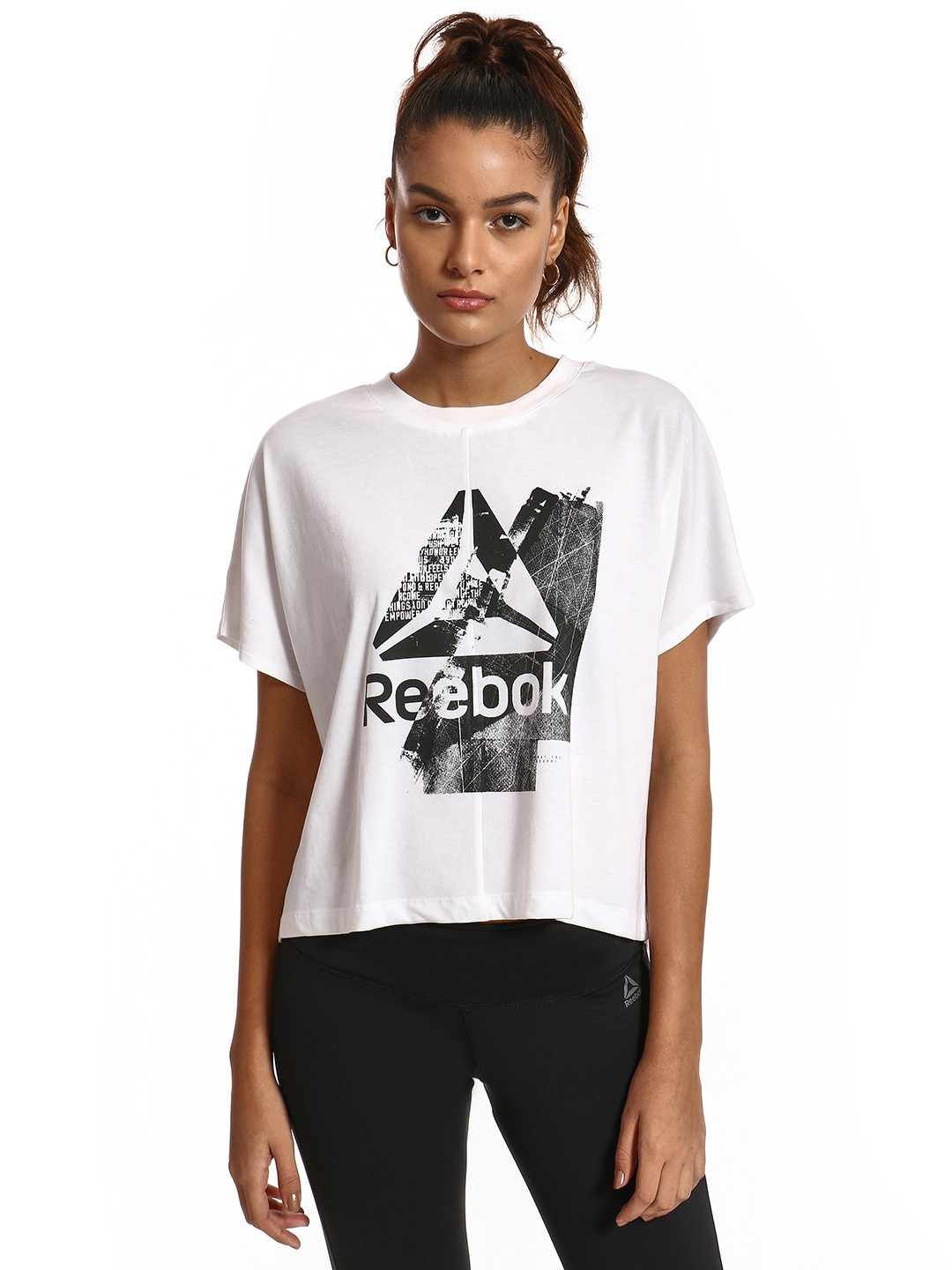 REEBOK White Graphic Print T-Shirt 1