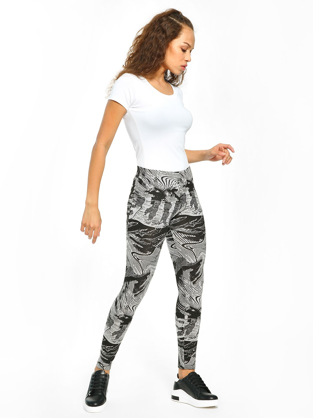 Adidas Multi All Over Print Tights 1