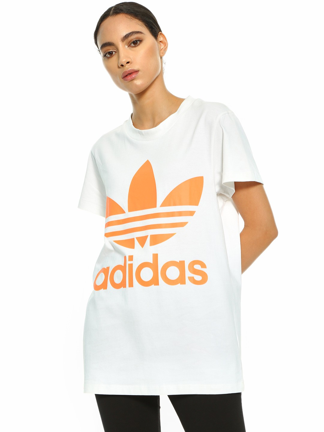 Adidas Originals White Oversized Trefoil T-Shirt 1