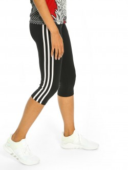 Adidas D2M 3-Stripe 3/4 Training Tights