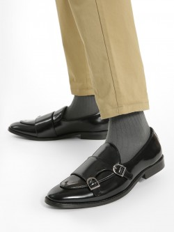 Griffin Patent Monk Strap Shoes