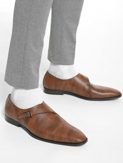 Griffin Monk Strap Textured Formal Shoes