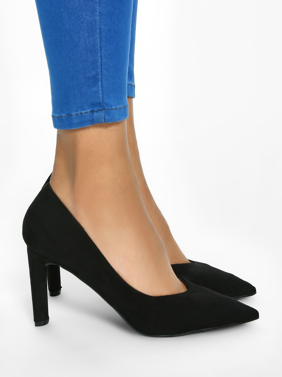 Intoto Black Basic Suede Finish Pumps 1