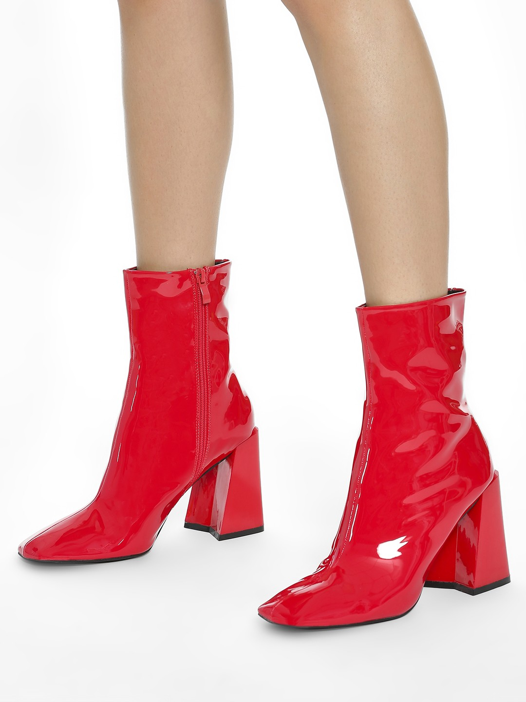 Intoto Red Patent Calf Length Boots 1