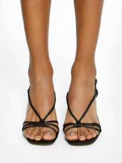 Intoto Strappy Square Toe Heeled Sandals