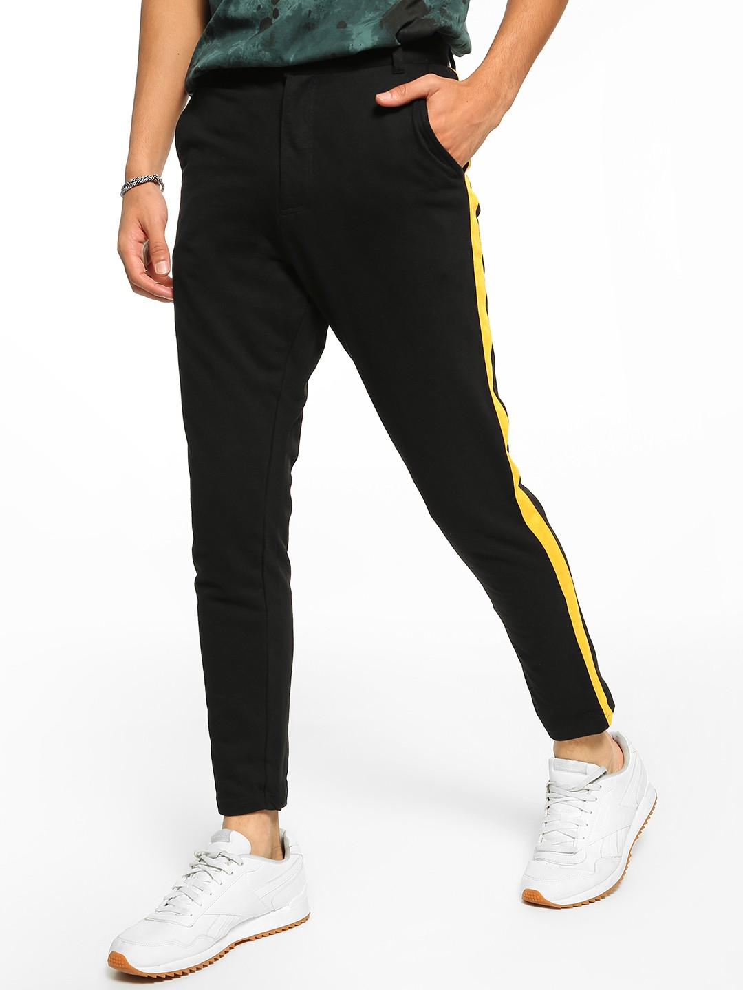 Garcon Black Knitted Side Tape Trousers 1