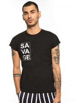 Garcon Savage Placement Print T-Shirt