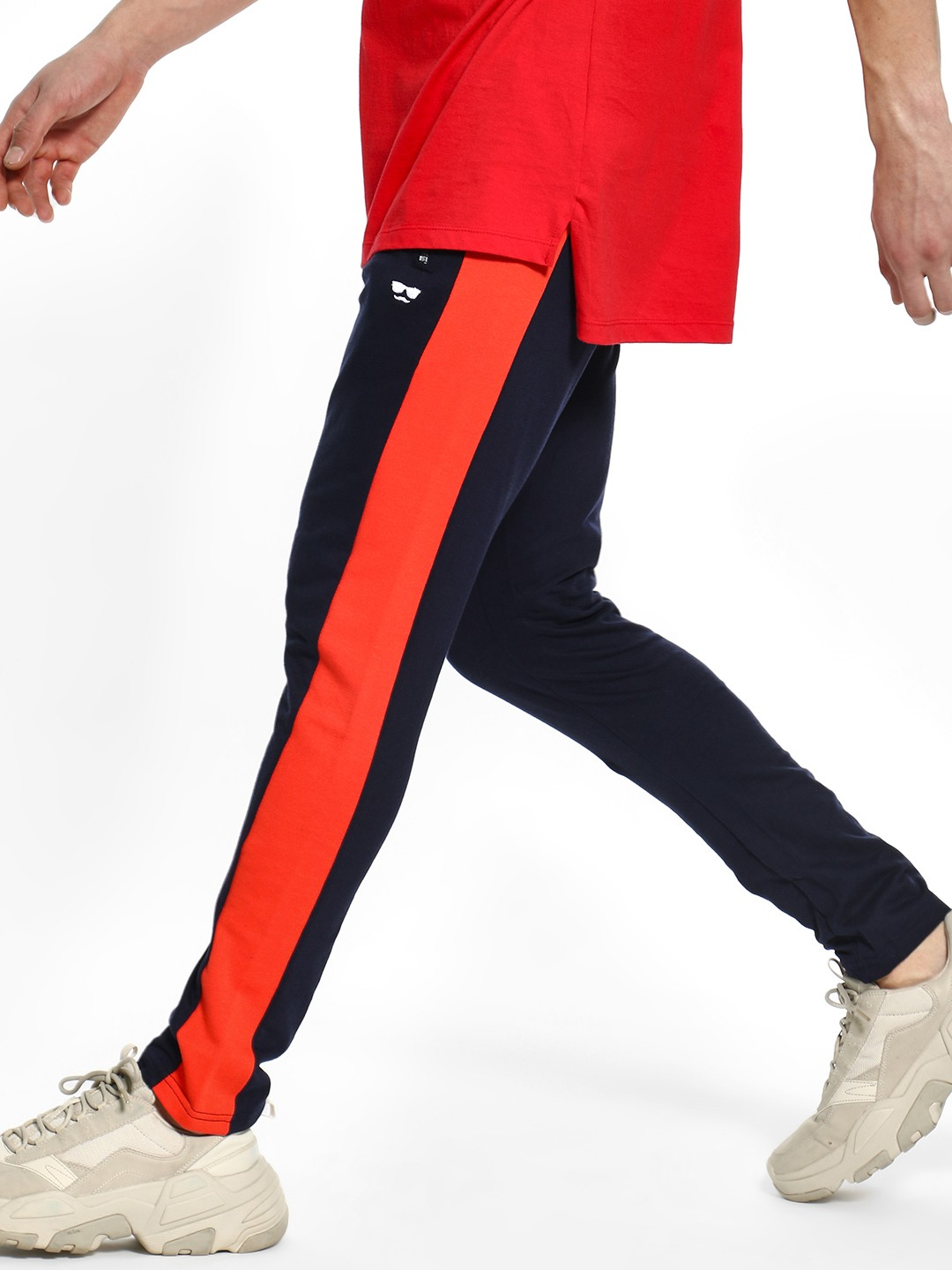 Garcon Navy Contrast Side Tape Joggers 1