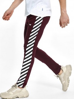 Garcon Stripe Print Side Panel Joggers