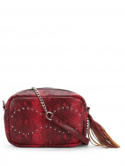 Paris Belle Snakeskin Stud Detail Sling Bag