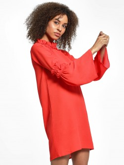 KOOVS Ruffle Neck Shift Dress
