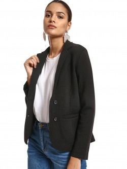 PostFold Knitted Long Sleeve Blazer
