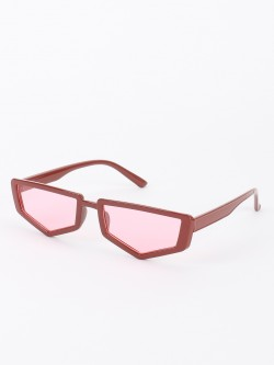 Sneak-a-Peek Pentagon Shape Classic Sunglasses