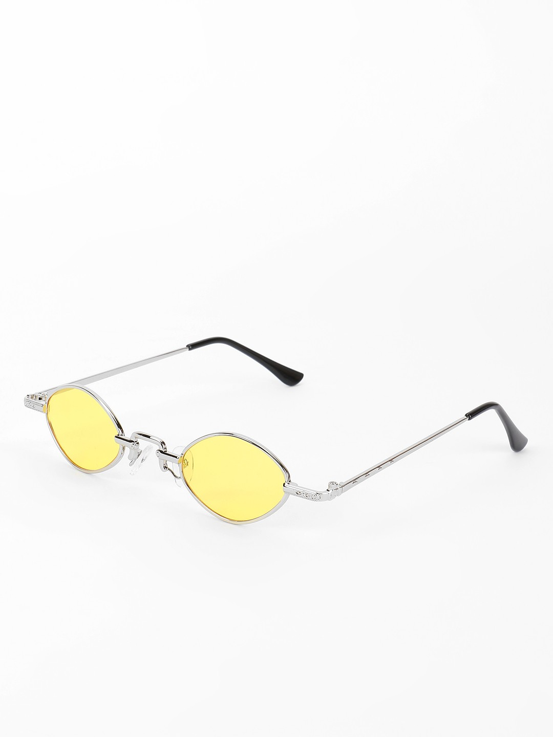 Sneak-a-Peek Yellow Micro Coloured Lens Retro Sunglasses 1
