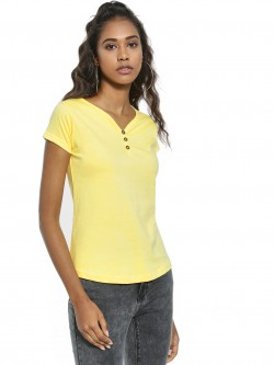 The Dry State Basic Button-Front T-Shirt