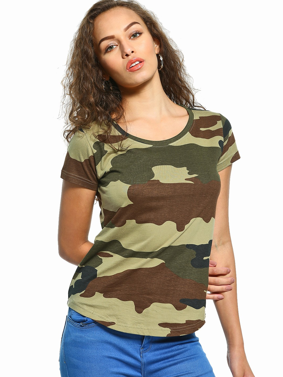 The Dry State Multi Camo Print T-Shirt 1