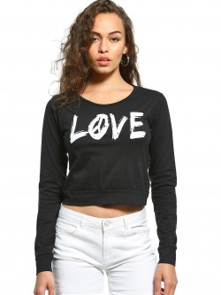 The Dry State Love Print Crop T-Shirt